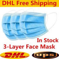 DHL UPS Free shipping Disposable Face Masks with Elastic Ear...
