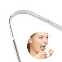 Zungenschaber Reiniger für Erwachsene Grad-Edelstahl Metallzunge Pinsel Dental-Kit Professionelle Zunge Zahnbürste KKA8095