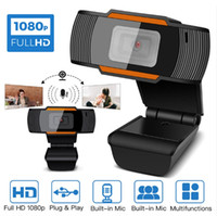 HD 웹캠 웹 카메라 30fps 1080p 720p 480P PC 카메라 컴퓨터 PC 노트북을위한 사운드 흡수 마이크 비디오 레코드 A870 소매 상자