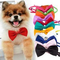 Haustier-Kopfschmuck Hundehalsbindung Hundequerbinder-Katze Krawatte Pet Grooming Supplies Multicolor können HHE1449 wählen
