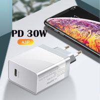 30W PD شاحن QC4.0 QC3.0 USB نوع C شاحن سريع شحن سريع 4.0 3.0 مراقبة الجودة