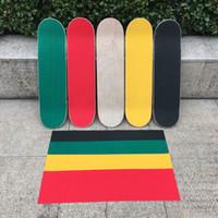 스케이트 보드 사포 방수 전문 미끄럼 방지 더블 로커 갑판 그립 테이프 스케이트 스쿠터 스티커 액세서리 84 * 22CM