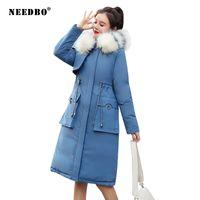 Kış Ceket Kadınlar Kürk Kapşonlu Coat Sıcak Uzun Bayanlar Puffer Coat Parka Mujer Kadınlar Şık Casaco Feminino Dış Giyim Invierno