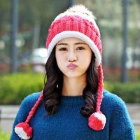 Kadınlar Beanie Örme Cap To New Moda Güzel Şapka Kış Şapka Earmuffs Cap Kemik Skullies Sıcak Gorro Kadın gorros tutun