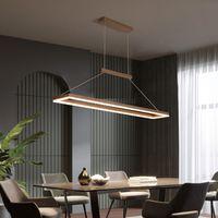 Золото / кофе Минимализм LED люстра для столовой Кухня hanglamp AC85-265V современной алюминиевой люстры освещения 90-260V AC