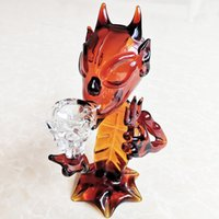 Glass Devil Shape Bong Glass Water Pipes Bubbler Amber Color...