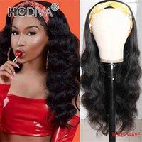머리띠 가발 100 % 인간의 머리카락 스카프 가발 레미 브라질 스트레이트 바디 곱슬 아프리카 계 미국인 여성을위한 저렴한 머리띠 가발 초급