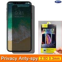 아이폰 (12)에 대한 개인 정보 보호 화면 보호기 (11) PRO 2.5D 9H 0.3mm의 45도 강화 유리 XR에 대한 XS MAX X 8 7 박스와 삼성 화웨이 샤오 미를위한