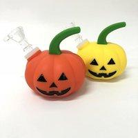 Тыква-формы кальян курить водяной трубы стекло бонг Хэллоуин Шиша труба со стеклянной миской против Twisty стеклянный тупой чаша