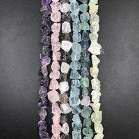 23-26pcs / vertente, 6Stone escolha primas cristal Nugget Beads, Irregular ásperas Amethysts Rose Smoky Quartzo Azul pendant fluorite Jóias