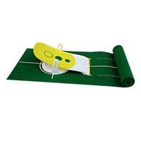 Deluxe 3 hoyos de golf Putt Trainer poner del golfista Putter Simulador Estera verde engranaje equipo