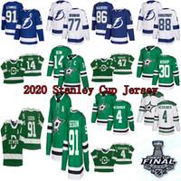 2020 Stanley Cup Jersey Dallas Stars 91 Seguin 14 Benn 47 Radulov 4 Heiskanen Tampa Bay Lightning 91 Stamkos 86 Kucherov 77 Hedman