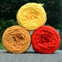 Fil à tricoter doux tricotage chunky serviette de laine boule de laine skein écharpe couleur pure couleur 100g # 80465