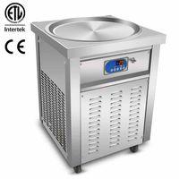 etlce 상업 55cm 팬 아이스크림 롤 기계 튀김 아이스크림 기계 전체 냉매와 튀긴 아이스크림 기계