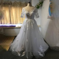 MYYBLE New African Ball Gown Wedding Dress 2020 Off the Shoulder Elegant Lace 3D Flowers Train Bridal Wedding Gown