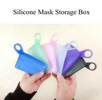Silikon-Maske Aufbewahrungsbehälter Zwischenlagerung beweglicher wasserdichter Gefaltete Clip Reisen Haushalt Maske Container Kreative Organisation DDA566
