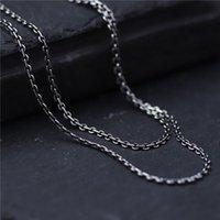 Nuovo caldo S925 argento sterling catena unisex fortunato O Rolo Collana con 1.5mmW
