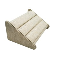 Customizable Ring Tray Pendant Inclined stand (Linen Imported from South Korea) Jewelry Display Storage Personal Collection Box