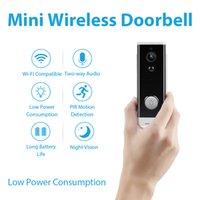 1080P HD Smart Hoolbell-камера Wi-Fi IP-камера Видеомофон Безопасность Батарея Дверное приложение Дистанционное управление Bell