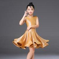 무대 착용 라틴 댄스 드레스 소녀 민소매 아메리칸 의류 탱고 살사 Cha Ballroom 연습 Rumba Samba Dresses DCC266