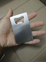 محفظة حجم الفولاذ المقاوم للصدأ بطاقات الائتمان فتاحة زجاجات البيرة الأعمال الفتاحات