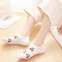 Frauen-Unterwäsche-Frucht-Druck Damen-Socken-Slipper, Frühling, Sommer Knöchel Breathable unsichtbare Socken bequeme beiläufige nette