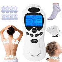 TENS corps Soins santé Machine de thérapie de massage méridien numérique Minceur Muscle Relax gant de massage tapis de douleur Fat Burner
