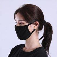 Preto Cotton Máscara Máscaras Moda Classic Máscara lavável reutilizável Dustproof pano para o homem da mulher Produtos de protecção