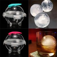 Silikon Yuvarlak Buz Hokeyi Kalıp Yaratıcı Plastik Whisky Kokteyl Ice Cube Topu Makinası Kalıpları Mutfak Bar Sarf Malzemeleri VT1584 İçme