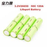 LiFePO4 şarj edilebilir batarya 32pcs 26650 Silindirik Hücre 3,2V 2500mAh lityum demir yüksek GÜÇ drenaj 120A 48C E-bisiklet, golf arabası