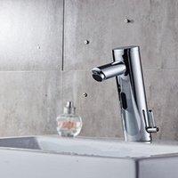 Automatischer Infrarot-Sensor Badezimmer Smart-Touchless-Wannen-Hahn-Bassin Wasser-Hahn Deck Einhand-Deck montiert für Küche Bad