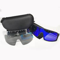 Marke Brillen Schwarz polarisierte Linse einen.Kreislauf.durchmachenglas Männer Frauen Bike Sonnenbrillen Sport Fahrrad Brillen Outdoor-Brillen Goggle 3 PCS Linse