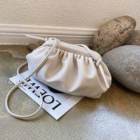 JZ CHIEF بسيط حقيبة للنساء 2020 مصمم العلامة التجارية الصيف الكتف CROSSBODY حقيبة صغيرة حقيبة زلابية سحابة المحفظة الفاصل الأبيض