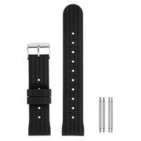 20mm / 22mm Kauçuk Watch Band Su Geçirmez Dalgıç Yedek Bileklik Siyah / Mavi Silikon Bilezik Kayışı Bahar Barları Pin Toka