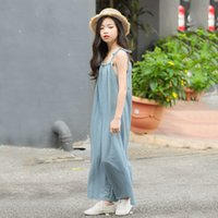 Girl Suspenders Jumpsuit Summer Cotton Breathable Loose Soft Overalls Children's Fashion Casual Jumpsuit
