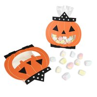 Diy 8pcs Decoration Candy Bag Kids Supplies Pumpkin Treat Pa...