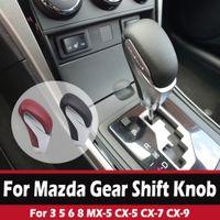 POMMEAU Head Pour Mazda 3 5 6 8 MX-5 CX-5 CX-7 CX-9 Car Noir / Rouge cuir Levier Shifter bâton Accessoires voiture