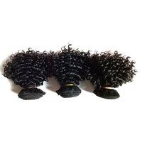 Необработанные Европейский бразильский девственницы утка человеческих волос 8-12inch кудрявый Curly 6шт Высокое качество 7А Норки монгольской Remy индейца фабрика реж