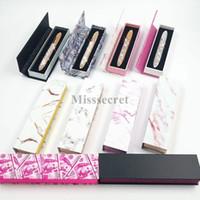 Neue Design Klebstoff Eyeliner Box Selbstklebende Wimpern Eyeliner Verpackungskasten Marmor Geld Verpackungsbox Geschenkboxen
