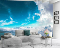 3d Wallpaper walls Beautiful Blue Sky and White Clouds Romantic Scenery Living Room Bedroom Kitchen Decorative Silk Mural Wallpapers