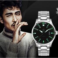 Orologi da uomo in alto orologio meccanico automatico uomini carnival cinturino in acciaio per orologio da polso luminoso orologio maschile reloj hombre