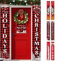 سوق الأسهم الولايات المتحدة 180 * 30CM 26 أنماط زينة عيد الميلاد للمنزل شرفة مغطاة علامة الديكور الباب راية الشنق عيد ميلاد سعيد عيد الميلاد الحلي FY7169
