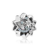 NEW100 925% Nueva 797490NBL lujo cuando se desea a joyería con cuentas Un encanto de la estrella original Mujeres Recuerdos