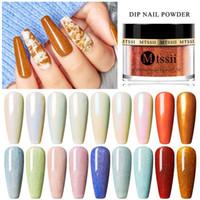 Dipping Nagel Glitter Pulver Dipping Staub Gradient Französisch Nail Matteffekt Holographic Glitzer-Kunst-Dekorationen Maniküre