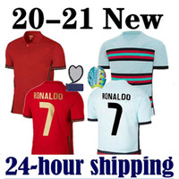 2020 Erkekler Futbol Forması # 7 R7 # 10 Silva Futbol Gömlek Mens Eve Uzakta # 23 João Félix Neves Guedes Futbol Üniforması
