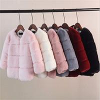 Çocuklar için Kızlar Kürk Ceket Katı Renk Boys Faux Fur Outwear Coat Kalınlaşmak Coat Isınma 2020 Yeni Bebek Çocuk ceketleri Giyim Tops