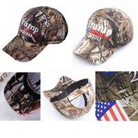 Camo Donald Trump Hat Make Amerika Große MAGA Caps USA Flag 3D-Stickerei Brief Snapback Camouflage Herren-Baseballmütze für Frauen