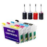 잉크 카트리지 T0711 T0712 T0713 T0714 스타일러스 DX6050 DX7400 DX7450 DX8400 프린터 + 4 색 30ml