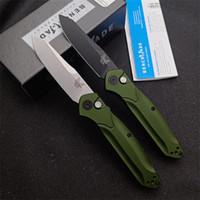 """Bench 9400 / 9400BK 940 / 940S Osborne AUTO Folding Messer 3.4"""" S30V Schwarz / Satin Gerade Klinge, Grün Aluminiumgriffe BM3300 Automatische Messer"""