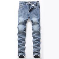 Мужские джинсы мужские ретро винтажные промытые голубые высокие уличные плиссированные стройные стринги длинные джинсовые хип-хоп брюки карандаш для мужчин